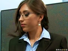 Having Fun With Alexis Breeze Perky Big Boobs In The Office
