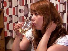 Redheaded Japanese Lesbian MILF Eats Out A Teen Slut