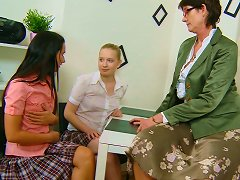 Sweet Looking Lesbians Are Having With Their Lesbian Teacher