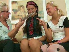 Cute Teens Missy And Carla Seduced By Kinky Mature Teacher