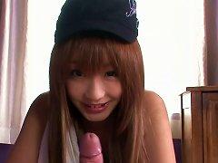 Hussy Japanese Teen Sana Anzyu Gives POV Sucking Job