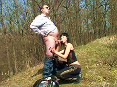 Exhibitionist Wife Gets Fucked On A Blanket In The Forest
