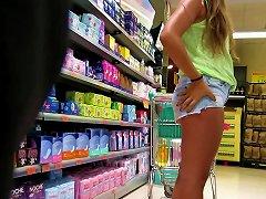 Camel-toe Teen Slut In Jeanshorts