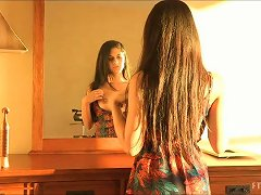 Brunette Lilly Masturbates With A Vibrator Sitting On The Commode