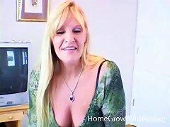 Amateur Mature Blonde Woman Sucking A Younger Big Black Cock