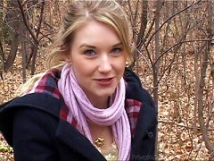 Teen In The Forest Does A Striptease To Turn You On