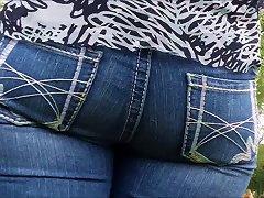 Tight White Butt In Super Tight Jeans