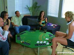 Group Sex At The Card Game With Gorgeous Girls
