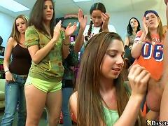 A Few Cute Teens Show Their Blowjob And Handjob Skills To Some Dudes