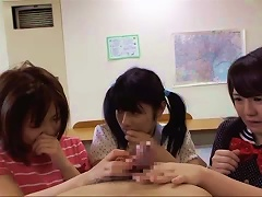 One Cock Gets Sucked And Fucks Three Shy Japanese Teens