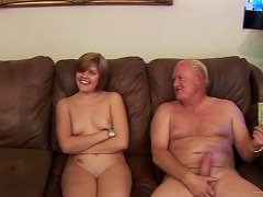Haileey James Has A Threesome With Two Horny Old Men