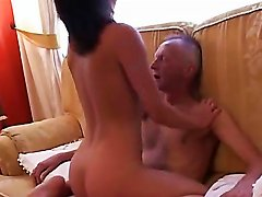 Innocent Teen Gets Drunk And Rides An Old Man's Fat Cock
