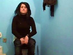 Nice Brunette Teen Sucks Dick Through A Gloryhole At A Gas Station