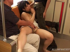 Japanese Babe Enjoys Public Sex So This Guy Rams Her Rough