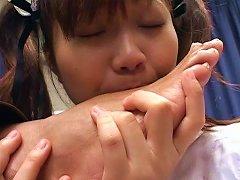 Japanese Maid Pleasing Her Master