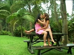 Two Horny Lesbians Having Extra Time In Outdoor  Ing
