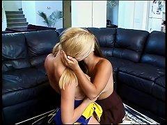 Mature Lesbian Hottie Seduces A Teen