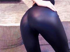 Neues Video! Leder Leggings
