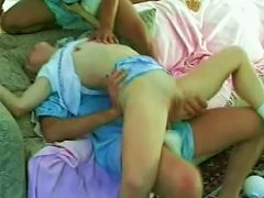 Incredible Dirty Wild Threesome Fuck With Insatiable Blonde Teen