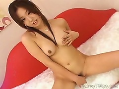 Flawless Young Japanese Chick Pleasures Her