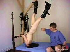 Bondage Session For A Sizzling And Petite Redhead Lyssa
