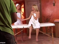 Backstage Of A Lesbian Sex Scene With Sophie Moone And Antonya