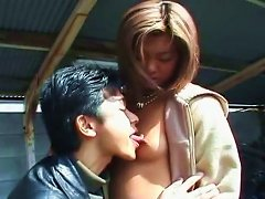 This Asian Chick Is A Total Exhibitionist And She Knows How To Give A Good Bj