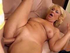 Fluffy Mature Cougar Gets Shagged By Big Young Dick