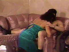Dazzling Cowgirl With Long Hair Getting Erotic With Her Guy In Retro Shoot