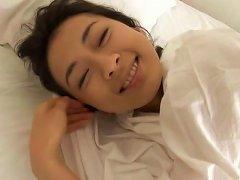 Japanese Angel Masako Umemiya Wakes Up In The Morning Really Happy