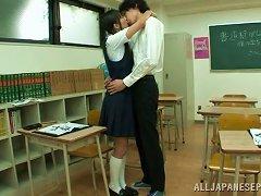 Fancy Asian Amateur Giving Her Teacher A Superb Blowjob