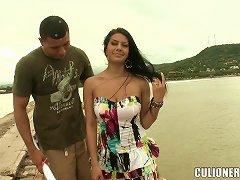 Juliana The Sexy Latina Gets Fucked Hard In A Backyard