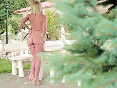Beautiful Angel Kiara Lord Is Masturbating Her Juicy Slit In The Garden