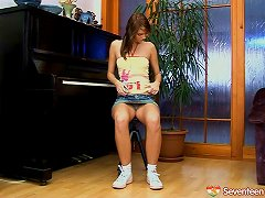 Forget The Piano Lessons, She Wants To Make Her Pussy Cum