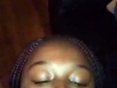Pretty Ebony Teen Facial