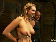 Chubby Blonde MILF Rain Degrey Gets Beaten And Fucked By Tom Moore