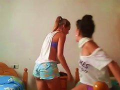 Just A Teasing Amateur Webcam Video From The Dorm Room Of Two Hot Teen Babes