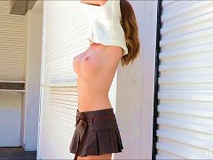 Naughty Leann Is Smoking-hot And Wants To Masturbate In A Public Place