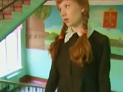 Redhead Schoolgirls Gets Cock And  From Different People