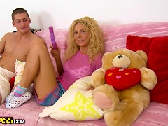 Bryana The Curly Blonde Teen Gets Toyed And Fucked Hard