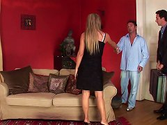 Blonde Cougar Is Thrilled To Get A Dp In A Threesome