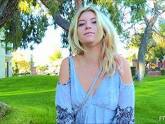 Raunchy Blonde Senorita Sometimes Loves To Masturbate Outdoors
