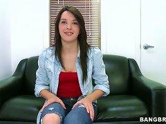 Charming Brunette Girl Natalie Heart Gets Naked On The Interview