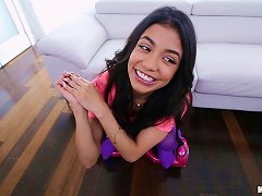 Exotic Latina In Purple Clothes Penetrated By Her Hung Partner