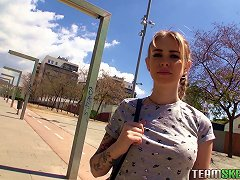 Adrenalizing Blonde Takes Some Money And Lets The Guy Penetrate Her