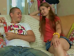 Candy Babe Aurelia Gets A Huge Cock In Her