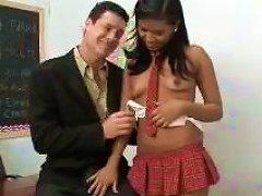 Sexy Teen From Overseas Milks The Teacher's Hard Cock