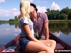 During A Boating Trip He Puts His Rod In Her Tight Pussy