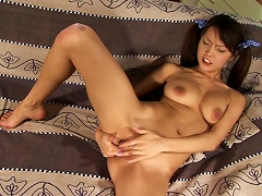 Exotic Babe Mae Shows Off Her Slim Body And Pounds Her Vag With A Toy