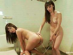 Dana Dearmond Destroys Marica Hase's Asian Ass With A Strap On